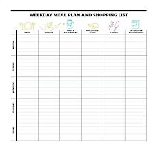Weekly Meal Planning Templates Template Lab Free Printable