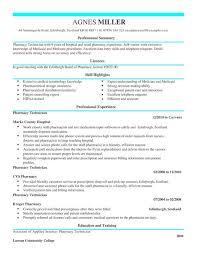 Pharmacy Curriculum Vitae Simple Pharmacy Technician CV Template CV Samples Examples