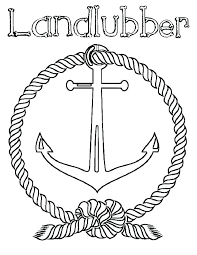 landlubber anchor coloring pages bulk color page for home improvement of anchors with rope col anchor coloring page