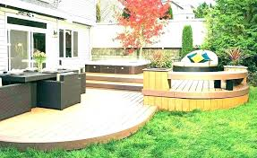 Backyard Decking Designs Impressive Small Decks Build A Wood Deck Small Deck Ideas For Small Backyard