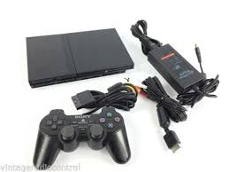 sony playstation 2 slim. sony ps2 playstation 2 slim console scph-77001 with controller fully tested