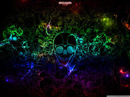 Cool Rainbow Skull Background - 800x600 ...