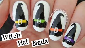 Witch Hat Nail Art | Halloween Tutorial - YouTube