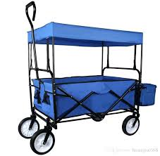 folding wagon for beach blue folding wagon collapsible cart w canopy utility outdoor garden sports beach