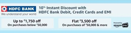 If you find an unauthorised or suspicious transaction, immediately contact the bank. Amazon Hdfc Bank Offers August 2021 Get Rs 1750 Off