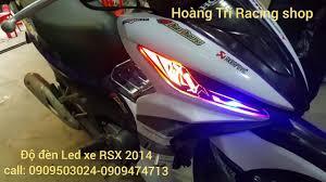 Wave RSX 2014 độ đèn Led Audi - Hoàng Trí shop - 0909 47 47 13 - YouTube