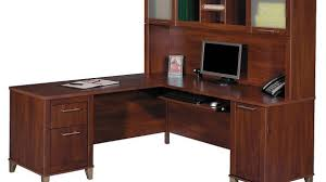 Popular L Shaped Desks With Hutch For Wood Desk Home Office Great