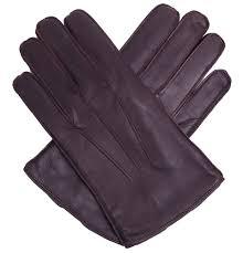 men s dark brown leather gloves fleece lined