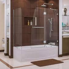 semi framed hinged tub