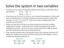 3 variable system of equations word problems math 8 solve the system mathematics in spanish