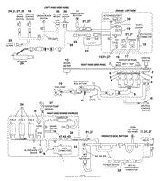 bunton bobcat ryan 942301 zero turn riding mower parts diagram electrical wiring harness