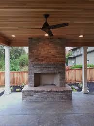 outdoor fireplace brick gray brick outdoor living large fireplace gas fireplace