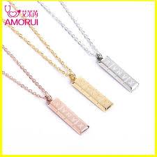 details about xanax vertical pill bar pendant necklace stainless steel women hot designe