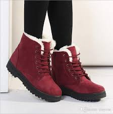 snow boots women winter ankle boots flat heel motorcycle boots casual fashion shoes leisure leather velvet outdoor hiking mujer botas b2664 high heel boots