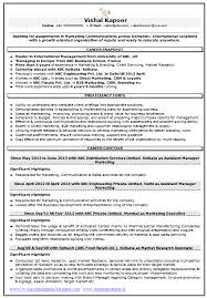 Resume Sample For Marketing Market Research 1 Career
