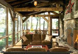 screened in porch furniture. Screened Porch Furniture Rustic With Cabin Ceiling Fan Deck Image By Architects In