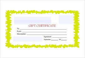 Custom Gift Certificate Templates Free 30 Blank Gift Certificate Templates Doc Pdf Free