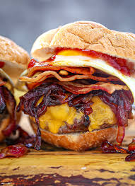 egg topped bacon cheeseburger what