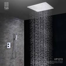 rain shower head. Contemporary Rain HPB Ceiling Mounted Big Rainfall Shower Head System Bath Rain Mixer  Combo Set Brass Polished Inside