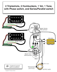 seymour duncan wiring diagram 2 triple shots 2 humbuckers 1 the world s largest selection of guitar wiring diagrams humbucker strat tele bass and more