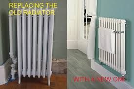 home radiator replacement. Brilliant Replacement Picture Of Replacing Central Heating Linked Towel Radiator By Yourself In Home Replacement H