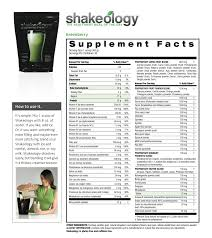 Shakeology Ingredient Chart Shakeology The Nutrition You Need Jadefitness Com