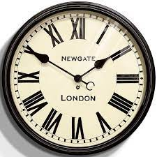 newgate battersby clock black wall
