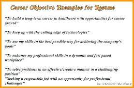 Job Objective For Resume Good Job Objectives For Resume Summer Job
