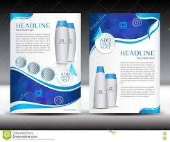 Magazine Newsletter Design Blue Business Brochure Flyer Template Design Newsletter