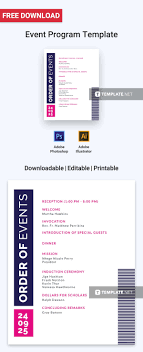 Template For A Program For An Event Free Event Program Invitation Program Templates Designs 2019