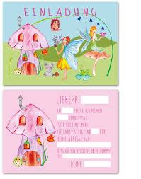 Children Birthday Invitations 12 Invitation Cards Fee Party For Children Birthday Invitation Motto Fairy Tale Format Din A6