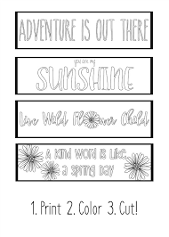 Download free printable christmas coloring pages for adults and kids! Printable Spring Bookmarks Coloring Page Yellowblissroad Com