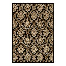 natco kurdamir damask black 7 ft 10 in x 10 ft 10 in