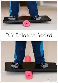 how to make a balance board for kids using a pool noodle from and next comes