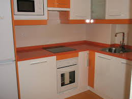 Orange And White Kitchen Cozy Compact Kitchen Design Ideas With Lighting Corner Under White