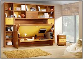 combo bed desk from ikea also wall mounted monitor and hutch display shelves plus glass sliding door and murphy bed frame and corner moveable drawers and