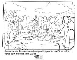 Small Picture Palm Sunday Bible Coloring Pages Whats in the Bible