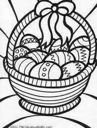 Easter Coloring Pages Big Easter Basket Coloring Page Things I