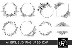 Freesvg.org offers free vector images in svg format with creative commons 0 license (public domain). Wreath Clipart Frame Svg 915139 Decorations Design Bundles In 2020 Frame Clipart Clip Art Wreath Floral Frames