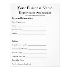 General Employee Job Application Form Business Flyer Office Gifts