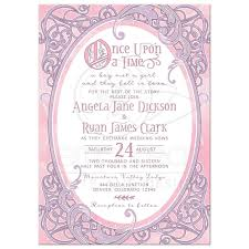 pink purple fairy tale wedding invitation once upon a time Wedding Invite Rsvp Time pink and purple fairy tale once upon a time ornate frame wedding invitation front wedding invite rsvp time