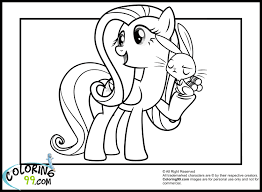 Small Picture My Little Pony Fluttershy Coloring Pages Get Coloring Pages