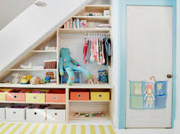 7 storage shelves under the stairs