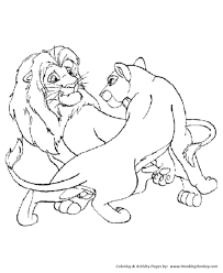 Small Picture Wild Animal Coloring Pages Male and Female Lions Coloring Page