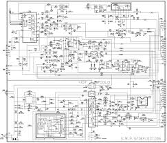 Color television circuit diagram power smps and wiring inch crt schematic diagrams systems electrical installations led