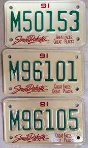 mixed lot of license plates all in good condition man 1991 south dakota motorcycle plate