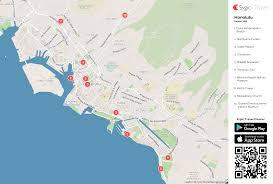 honolulu printable tourist map  sygic travel