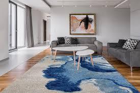 Arte Espina Teppich Damast 100 Blau Grau Fruugo