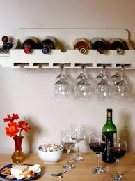 wall mounted wine rack bottle and glass holder shelf hung