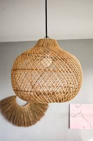 Rattan Pendant Light Handmade Rattan Lamp Shade Made In Bali Wicker Lamp Rustic
